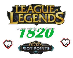League of Legends 1820 RP Riot Points EU-NE