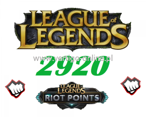 League of Legends 2920 RP Riot Points EU-NE-W
