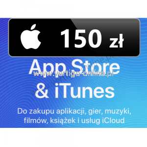 Apple Store iTunes 150 zł