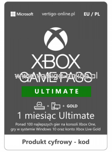 Xbox Game Pass Ultimate 1 miesiąc